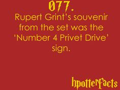 Harry Potter Fact 77
