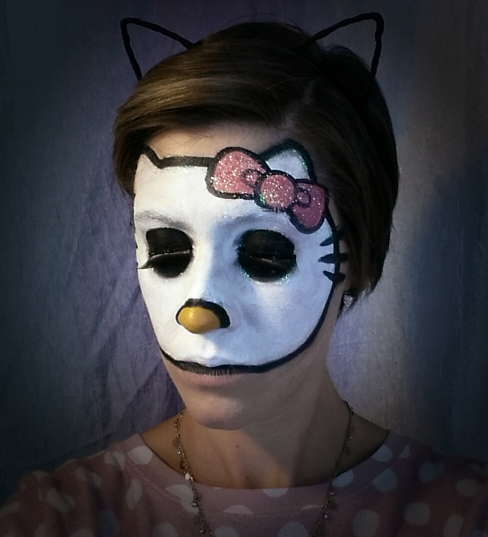 Hello Kitty Face Paint with GLITTER