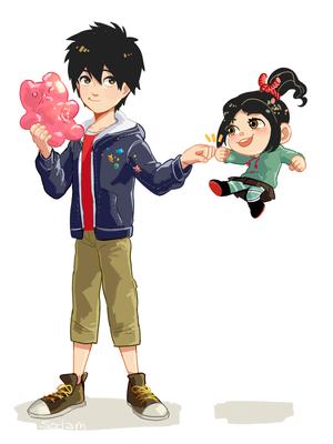 Hiro and Vanellope