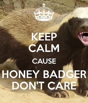 Honey texugo don't care