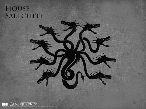 game of thrones wallpaper containing a sign called House Saltcliffe