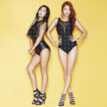 "Hyorin's and Soyou Teaser imej for ""Shake It"""