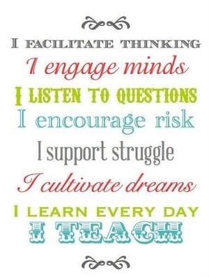 I Teach Poster