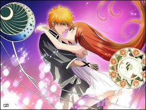 Ichigo and Orihime-Bleach (fanart)