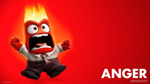 Pixar fond d'écran entitled Inside Out Anger fond d'écran