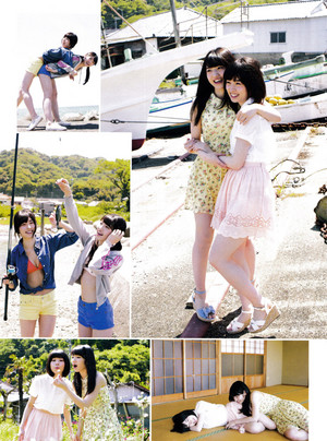 Iwatate Saho and Murayama Yuiri 「ENTAME」 July 2015