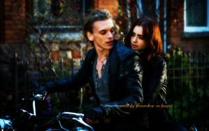 Jace and Clary fondo de pantalla