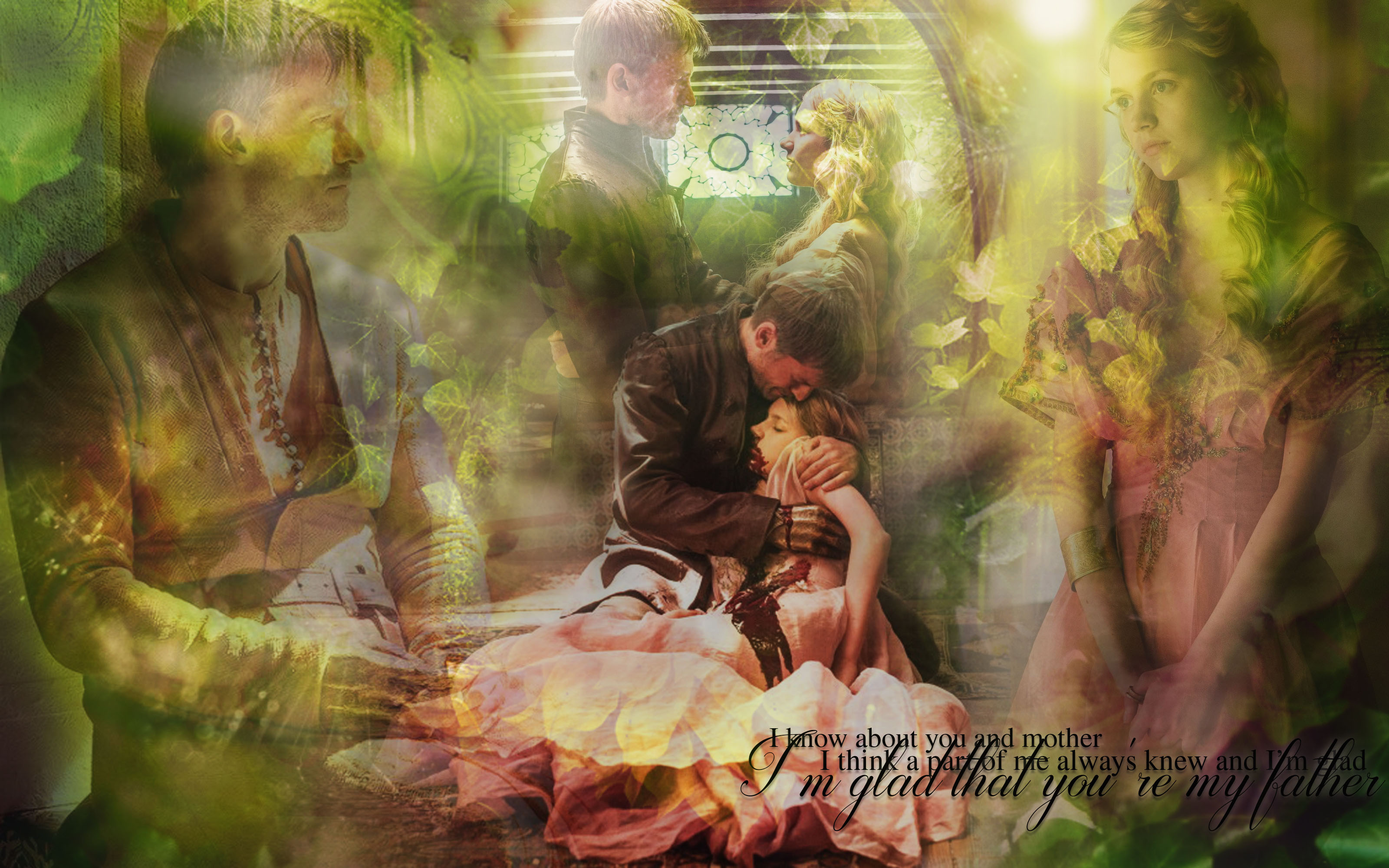 Jaime Lannister and Myrcella Baratheon