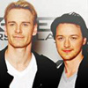 James McAvoy and Michael Fassbender photo with a portrait titled James and Michael