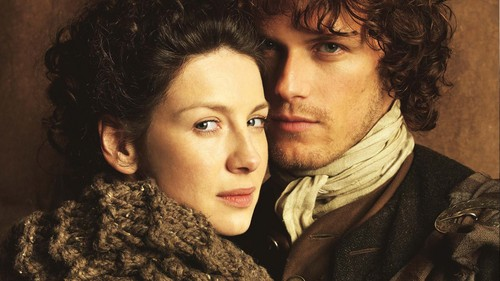 serial tv outlander 2014 wallpaper titled Jamie and Claire