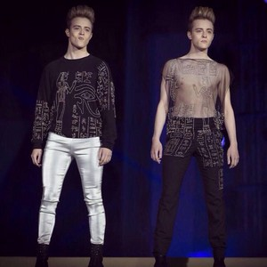 Jedward model for Jean Paul Gaultier