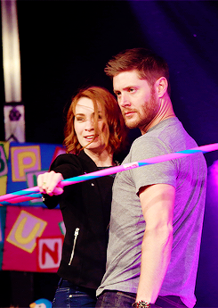 Jensen and Felicia Day