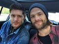 Jensen and Jared Padalecki - jensen-ackles photo