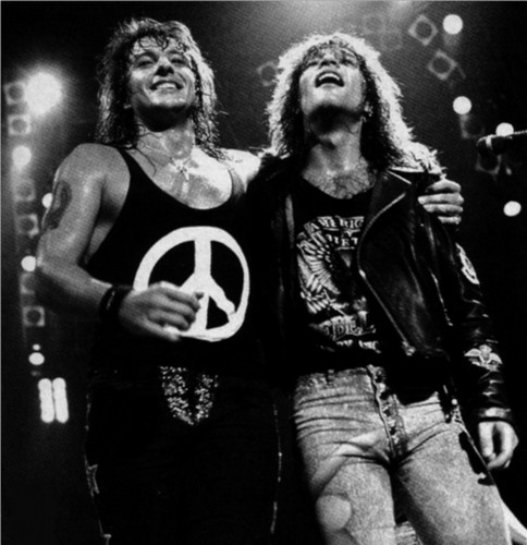 Bon Jovi wallpaper probably containing a concert titled Jon Bon Jovi & Richie Sambora