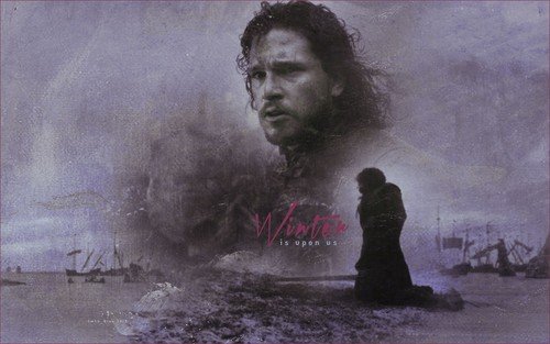 Game of Thrones wallpaper containing a smoke screen titled Jon Snow
