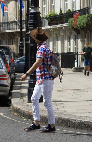 Josh Wood Is Out And About In London
