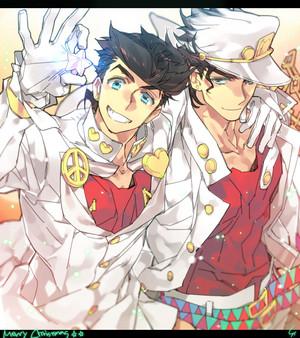 Josuke and Jotaro