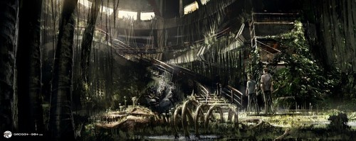 jurassic world wallpaper probably containing a jail called Jurassic World - Concept Art