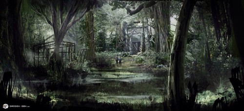 jurassic world wallpaper containing a beech, a sitka spruce, and an american white birch entitled Jurassic World - Concept Art