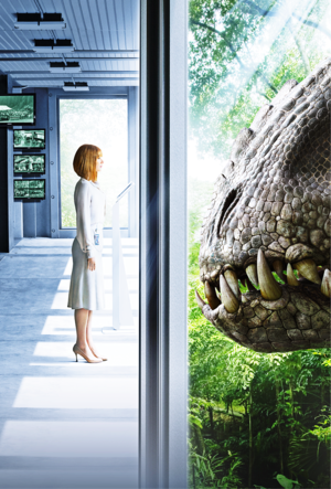 Jurassic World Posters - Claire Dearing & The Indominus Rex