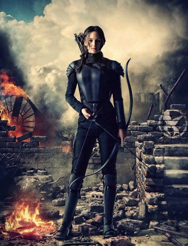 Hunger Games karatasi la kupamba ukuta possibly containing a rifleman entitled Katniss Everdeen | Mockingjay - Part 2