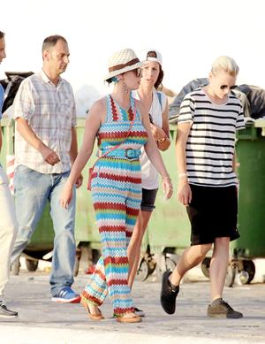 Katy Perry at Mykonos Island