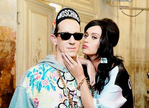 Katy at theMoschino  Fashion Show