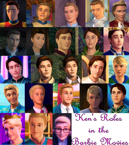 Barbie-Filme Hintergrund entitled Ken's Roles in the Barbie Filme