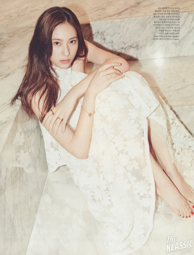 F(x) wallpaper possibly containing a dinner dress and a cocktail dress entitled Krystal for Elle Magazine June 2015