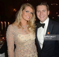 Lady Kitty Spencer and Allen Leech Downton Abbey reception  - princess-diana photo