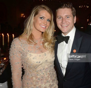 Lady Kitty Spencer and Allen Leech Downton Abbey reception