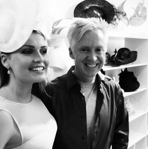 Lady Kitty Spencer and Philip Treacy