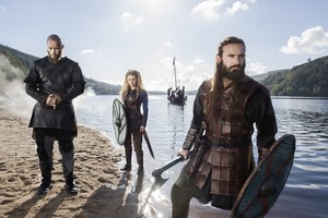 Lagertha, Rollo and Ragnar Lothbrok Season 3 promotional picture