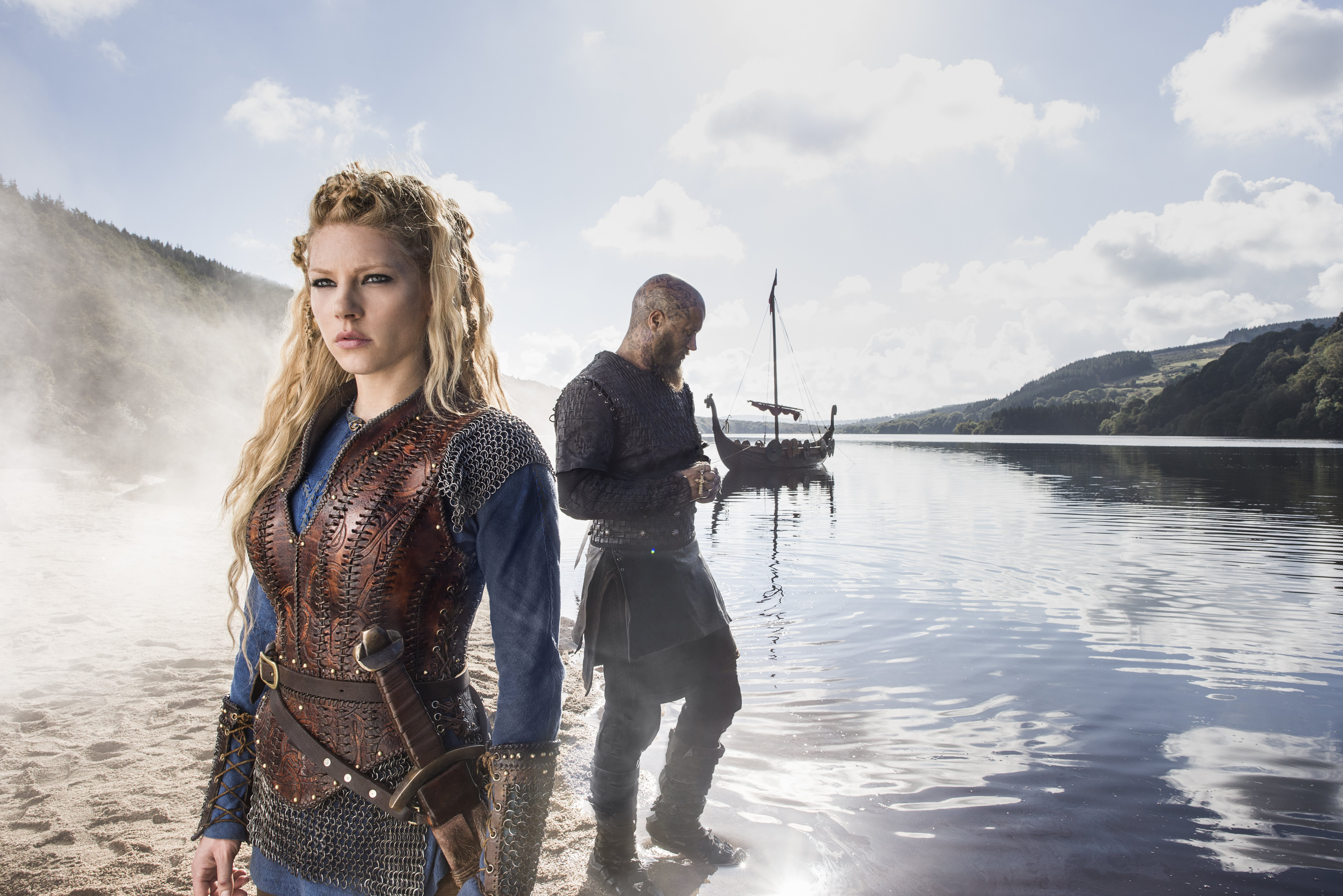 Lagertha and Ragnar Lothbrok Season 3 promotional picture