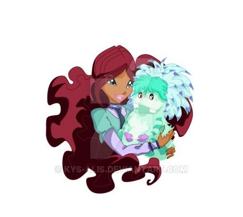 윙스 클럽 바탕화면 called Layla and Fairy Pet