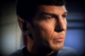 Leonard Nimoy as Mr Spock in the ster Trek 1966