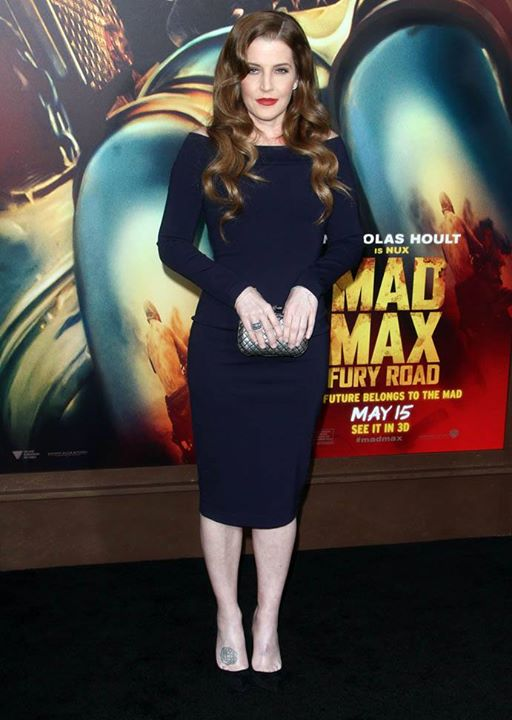 Lisa Marie at the premiere of Mad Max, Los Angeles, May 2015.