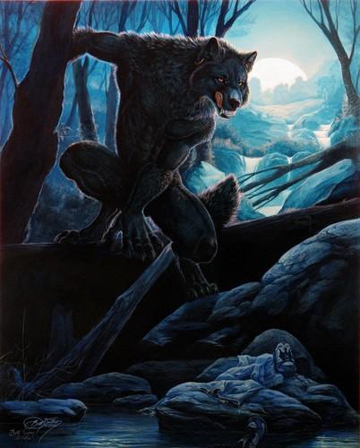 manusia serigala wallpaper titled Loups-Garous