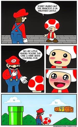 Mario confesses his true amor