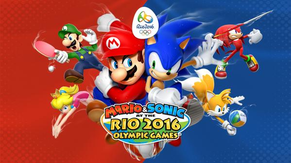 Mario and Sonic at the Rio Olympic Games 2016