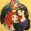 Merida, Elinor and Fergus - brave fan art