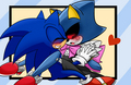 Metal Sonic and Sonic? - sonic-yaoi fan art