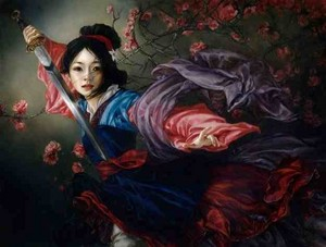 Mulan Oil Painting