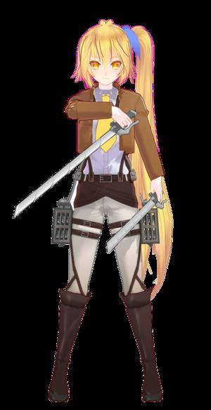 Neru Akita as a SnK character