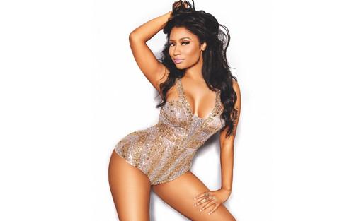 Nicki Minaj Hintergrund possibly with a maillot, a bustier, and a badeanzug called Nicki Minaj for Cosmopolitan 2015