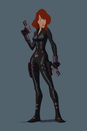 Odette from The Swan Princess as Black Widow