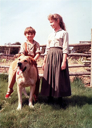 Old Yeller - Behind the Scenes - Spike, Kevin Corcoran and Beverly Washburn
