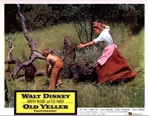 Old Yeller Lobby Card - Arliss and Katie Coates