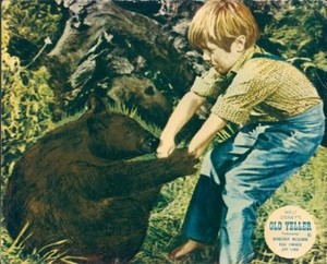 Old Yeller Lobby Card - Arliss and the bär