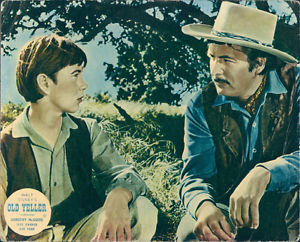 Old Yeller Lobby Card - Travis and Jim Coates